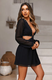 French Riviera Dress Black