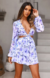 French Riviera Dress Fleur Print
