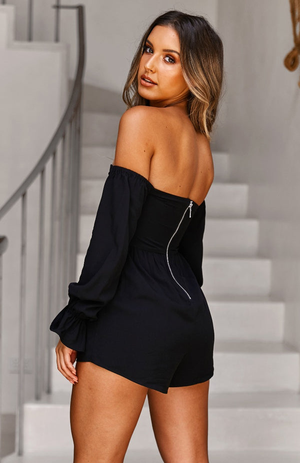 La Rousse Playsuit Black