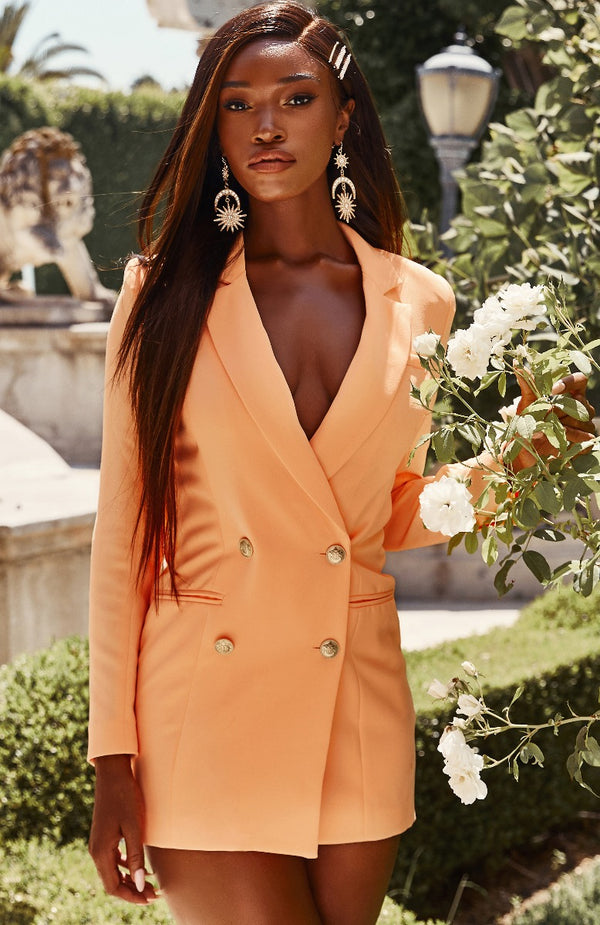 Long Island Blazer Dress Peach