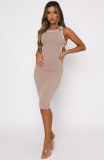 Sunset Driving Midi Dress Mocha
