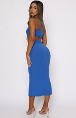 Downtown Girl Midi Dress Blue