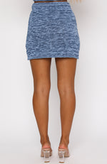 Holiday Mode Mini Skirt Blue