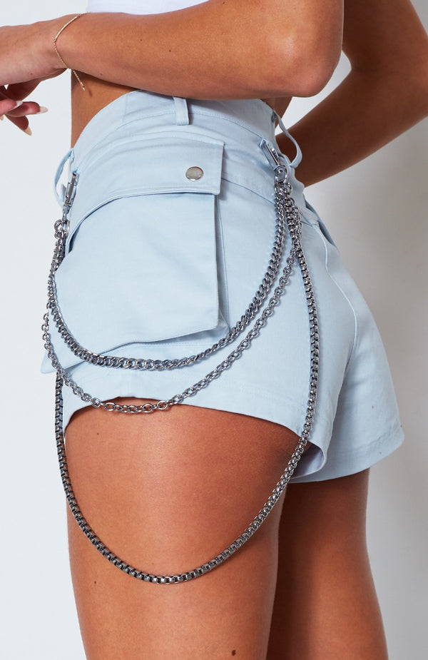 Let's Roll Belt Chain Silver