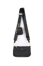 Phoenix Crossbody Bag Black Nylon
