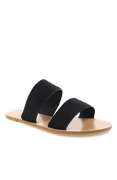 Cuban Slides Black Linen