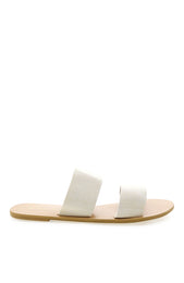 Cuban Slides Off White Linen