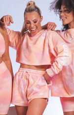 Cali Babe Cropped Sweater Pink Sunset
