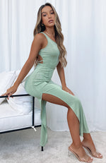 Easy Does It Maxi Dress Sage