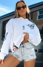 Fly High Oversized Hoodie White