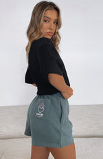 It's Like That Lounge Shorts Forest Green
