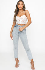 Fashion Fix Lace Bustier White
