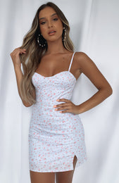 Darling Days Mini Dress Lilac Print