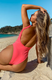 St Tropez One Piece Neon Peach