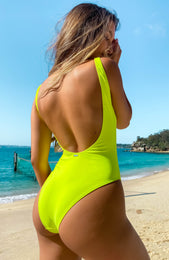 St Tropez One Piece Neon Yellow