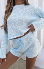 Role The Credits Knit Shorts Blue Marle