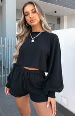 Walk This Way Cropped Knit Black