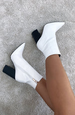 Tio Ankle Boots White Gecko