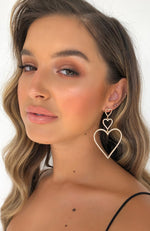 Heart Of Gold Earrings Gold