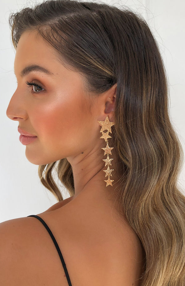 Under The Stars Earrings Gold