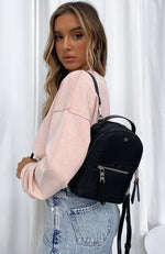 Zoe Mini Backpack Black Nylon