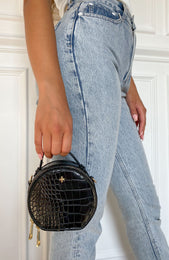 Jaz Mini Bag Black Croc
