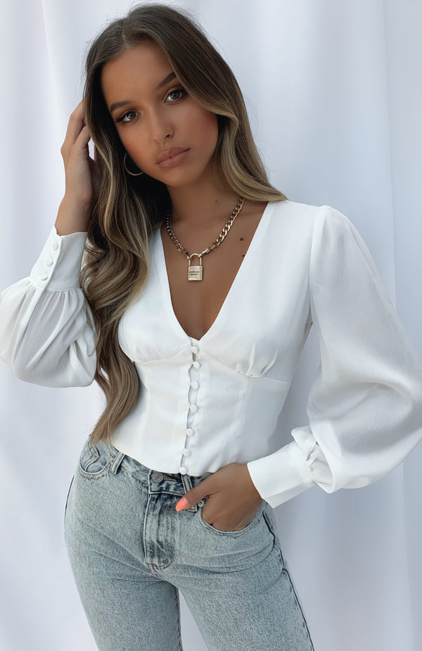 Mariella Crop White