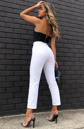 Drive Me Crazy Cropped Jeans White