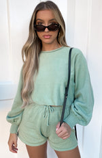 Walk This Way Cropped Knit Sage
