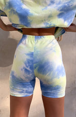 Signature Bike Shorts Blue Tie Dye