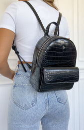 Presley Backpack Black Croc