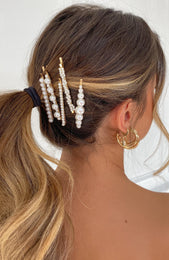 Spring Issue Pearl Hair Clip Set