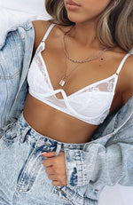 Mood Swings Crop White