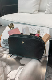 Joni Makeup Purse Black Saffiano