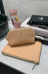 Malone Make Up Purse Nude Saffiano