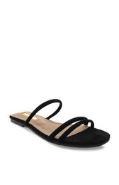 Isla Slides Black Suede