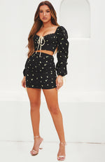 Endless Summer Mini Skirt Black