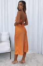 Out Tonight Midi Dress Tangerine