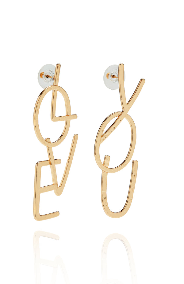 Love Struck Earrings Gold