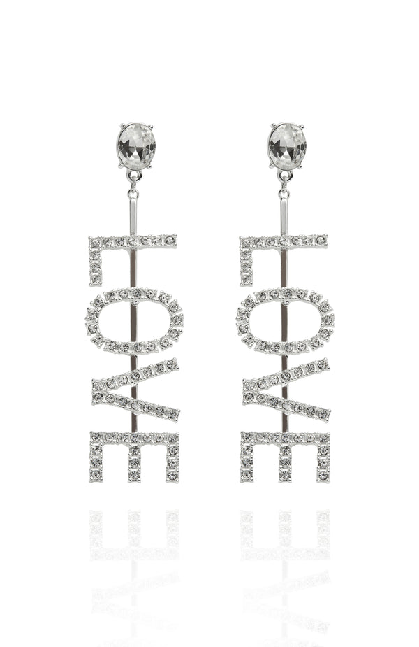 Real Love Earrings Silver