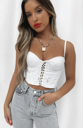 Forever Muse Crop White