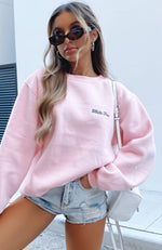 Steal Your Heart Oversized Sweater Pink