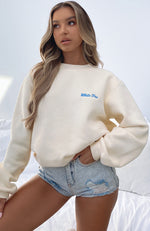 Steal Your Heart Oversized Sweater Butter