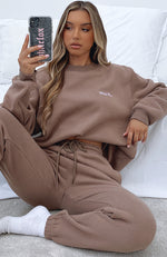 Steal Your Heart Oversized Sweater Mocha