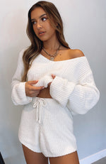 Stuck With You Knit Set White