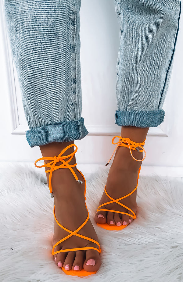 Martini Twist Heels Orange
