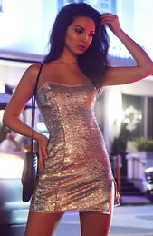 After Hours Mini Dress Silver