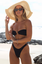 Candy Kiss Bikini Top Black