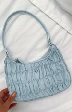 Tyra Shoulder Bag Powder Blue Nylon