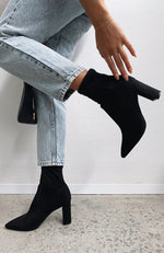 Waverly Boots Black Suede